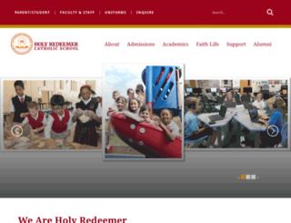 hrcatholicschool.org screenshot