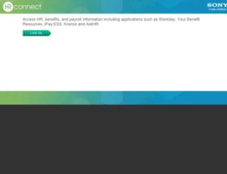 hrconnect.sony.com screenshot