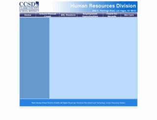 hrd.ccsd.net screenshot