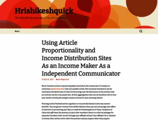 hrishikeshquick.wordpress.com screenshot