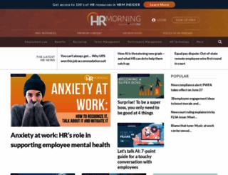hrmorning.com screenshot