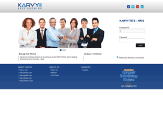 hrold.karvy.com screenshot