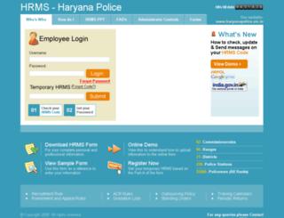 hrpol-hrms.org screenshot
