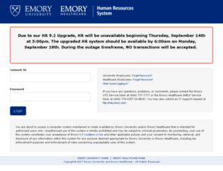 hrprod9.emory.edu screenshot