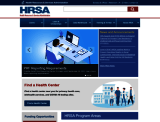 hrsa.gov screenshot