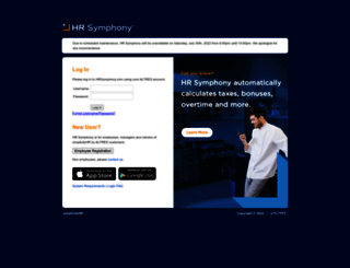 hrsymphony.com screenshot