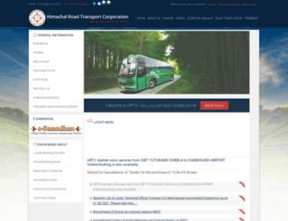 hrtc.gov.in screenshot