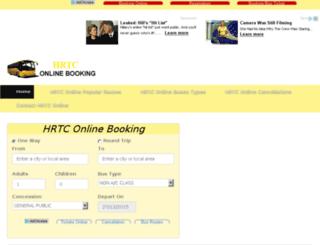 hrtconlinebooking.com screenshot