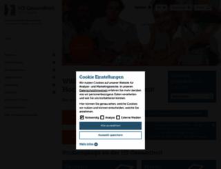 hs-gesundheit.de screenshot