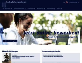 hs-mannheim.de screenshot