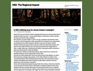 hs2theregionalimpact.wordpress.com screenshot
