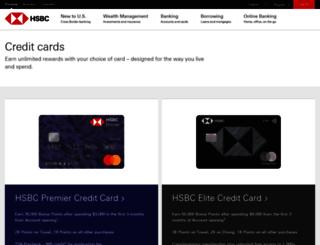 hsbccreditcard.com screenshot