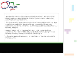 hsc.csu.edu.au screenshot