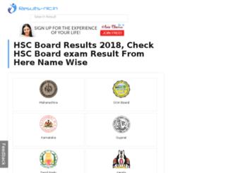 hsc.results-nic.in screenshot