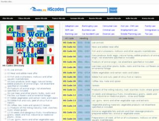 hscodes.org screenshot