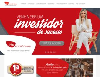 hsconsorcios.com.br screenshot