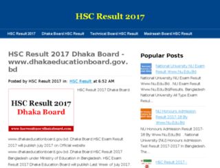 hscresult2017dhakaboard.com screenshot