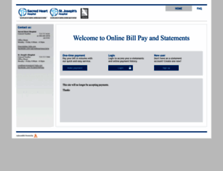 hshs-shec-sjcf.mysecurebill.com screenshot