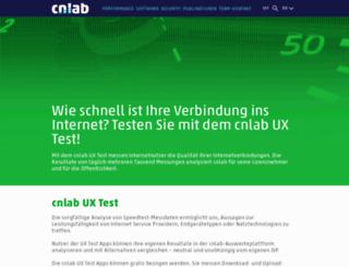 hsi.cablecom.ch screenshot