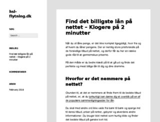 hsl-flytning.dk screenshot