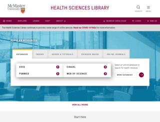 hsl.mcmaster.ca screenshot