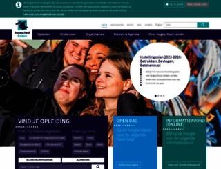 hsleiden.nl screenshot