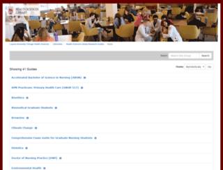 hslguides.luc.edu screenshot