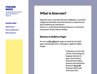 htaccessbasics.com screenshot