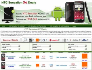 htcsensationxedeals.co.uk screenshot