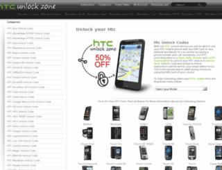 htcunlockzone.com screenshot