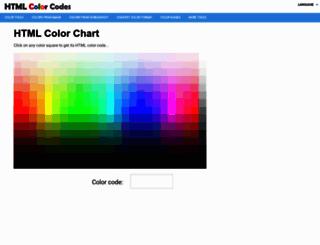 html-color-codes.info screenshot