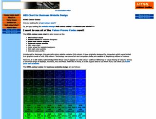 html-colour-codes.quickonthenet.com screenshot