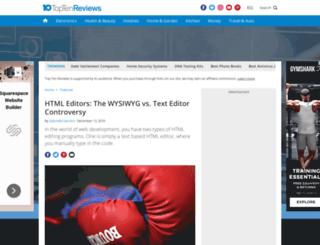 html-editor-software-review.toptenreviews.com screenshot