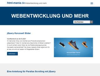 html-mania.de screenshot