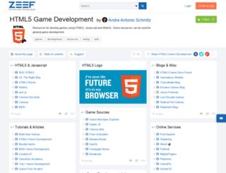 html5-game-development.zeef.com screenshot