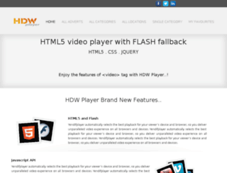 html5.hdwplayer.com screenshot
