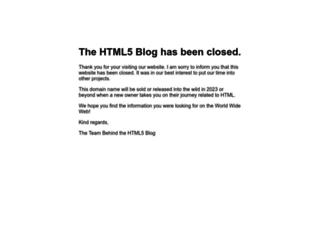 html5blog.org screenshot