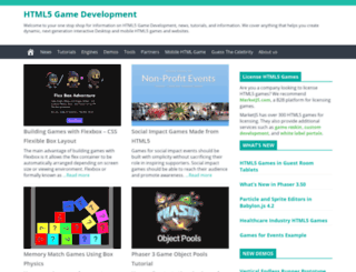 html5gamedevelopment.com screenshot