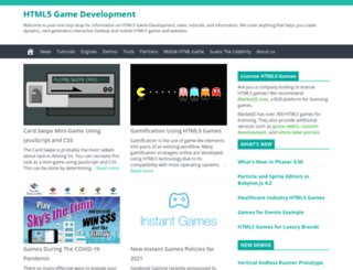 html5gamedevelopment.org screenshot