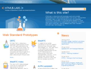 html5labs.interoperabilitybridges.com screenshot