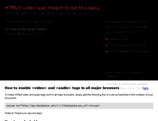 html5media.info screenshot
