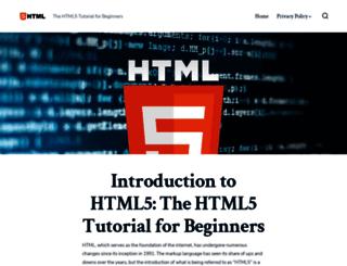 html5tutorial.net screenshot