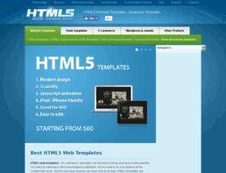 html5webtemplate.com screenshot