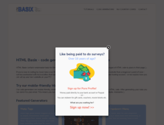 htmlbasix.com screenshot