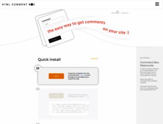 htmlcommentbox.com screenshot
