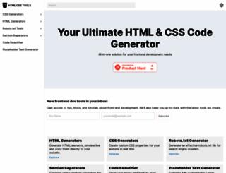 htmlcsstools.com screenshot
