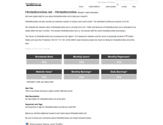htmleditoronline.net.websitetrafficspy.com screenshot