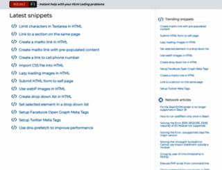 htmlf1.com screenshot