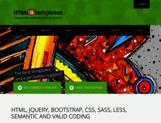 htmlfivetemplates.com screenshot