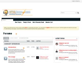 htmlforums.com screenshot